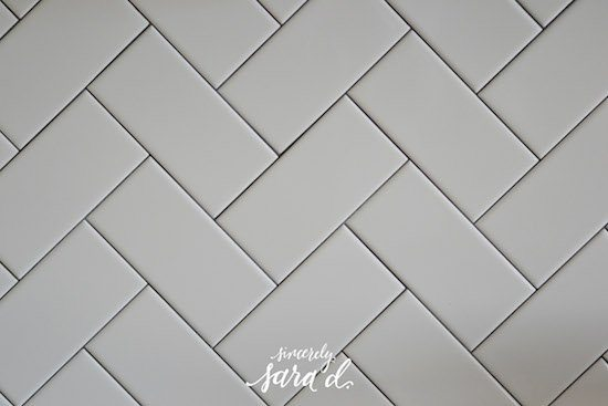 Herringbone Pattern with Subway Tile