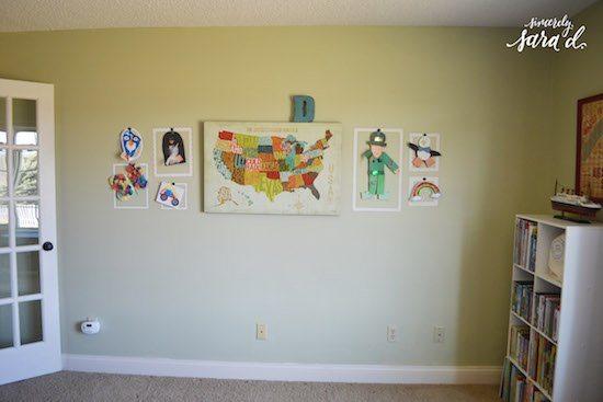 Playroom Wall Before