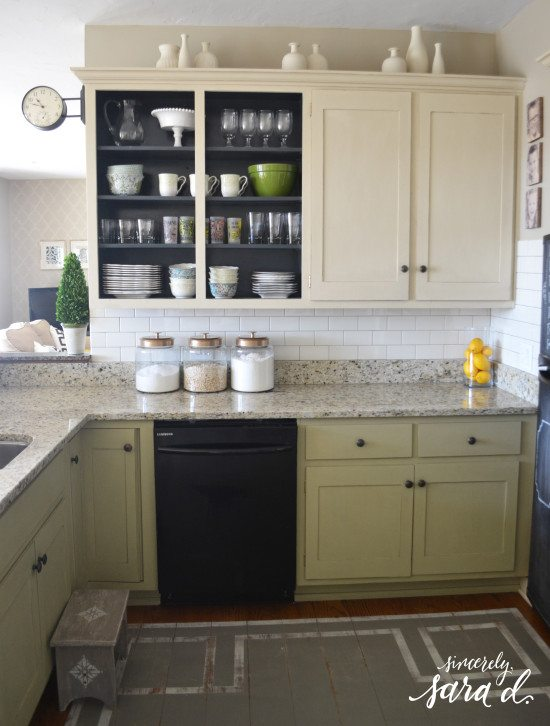 Subway Tile in Kitchen*