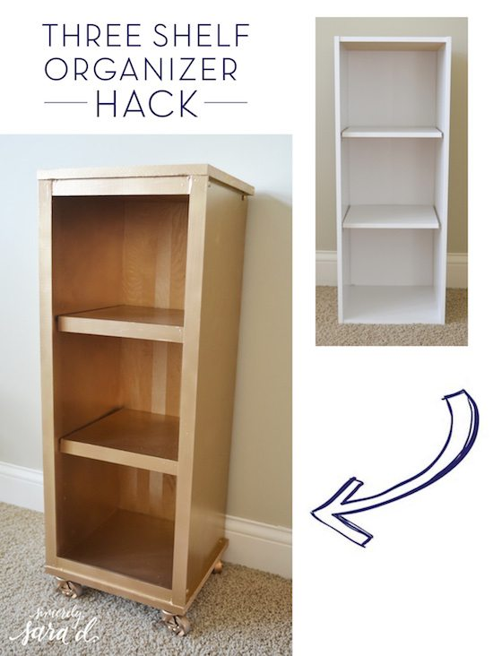 Three Shelf Organizer Hack