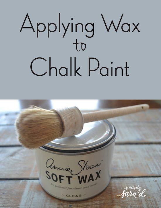 Applying Wax to Chalk Paint