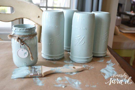 Chalk Painted Jars