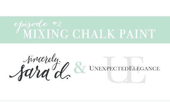 Mixing Chalk Paint Video Tutorial