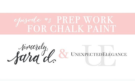 YouTube Prep Work for Chalk Paint