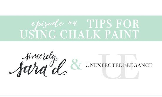YouTube Tips For Using Chalk Paint