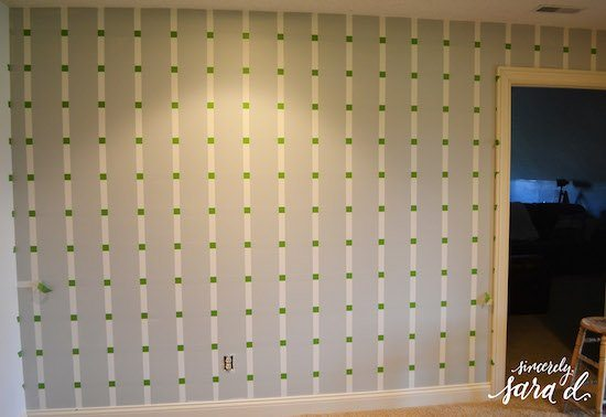 Painted Pattern Using Frog Tape