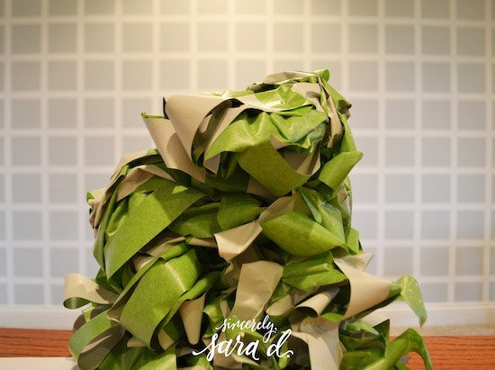 Pile of frog tape