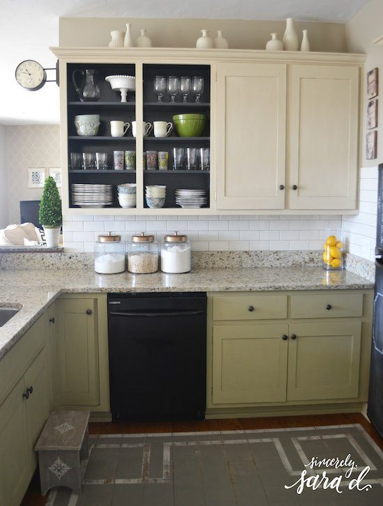 Kitchen Mini Makeover Subway Tile Sincerely Sara D