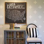 Chalkboard US Travel Map
