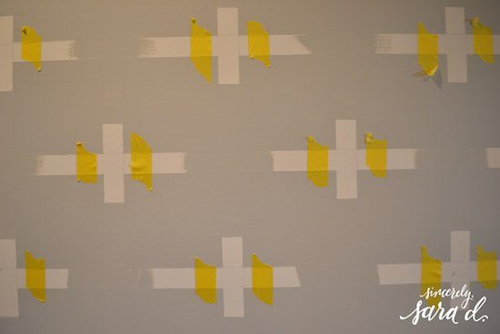 Swiss Cross Pattern with Frog Tape