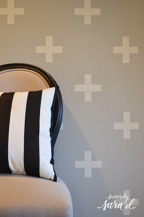 Swiss Cross Patterned Wall