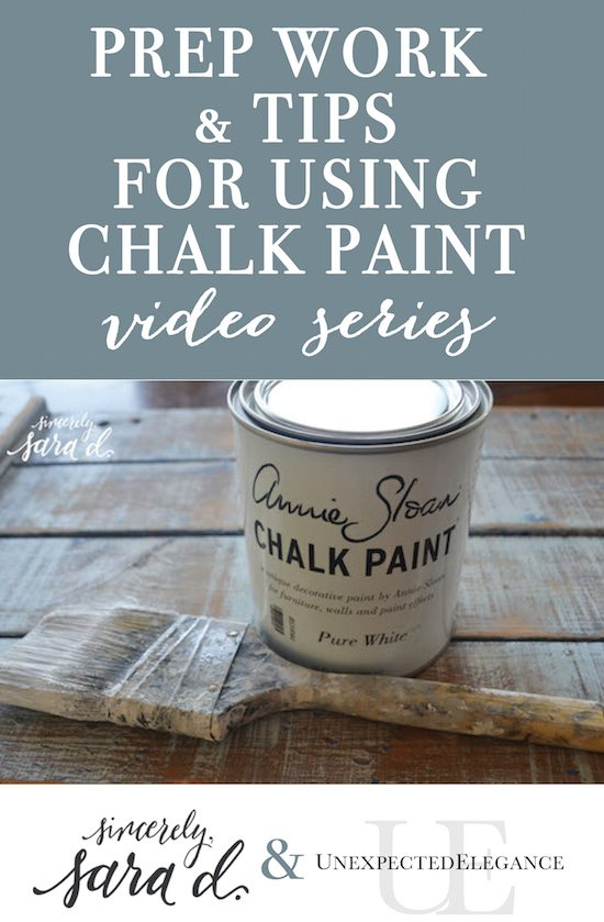 Prep Work and Tips for Using Chalk Paint Video Series