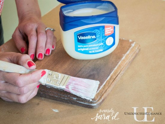 Tutorial for Using Vaseline to Distress Furniture