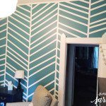 House Hijack: Herringbone Inspired Painted Wall