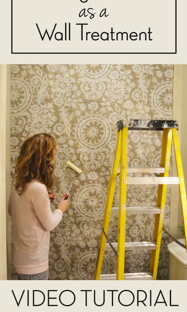 Video Tutorial Fabric Wallpaper Hy Friday Today I Am Sharing A For Hanging On Wall Using Liquid Starch Starched Walls