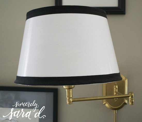 Ribbon accented lamp shade