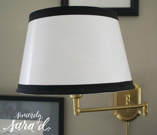 Ribbon accented lamp shade