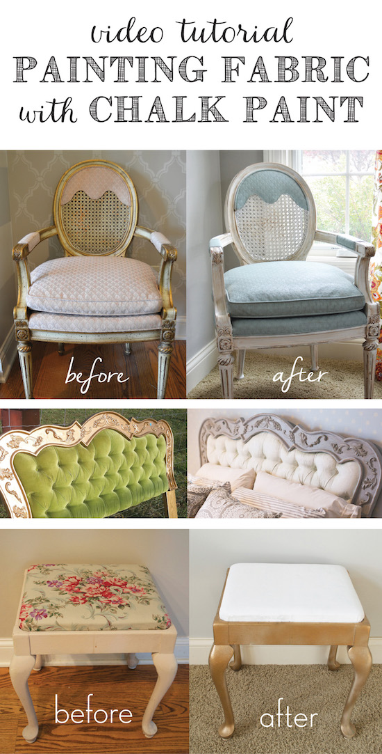 Video Tutorial Painting Fabric with Chalk Paint