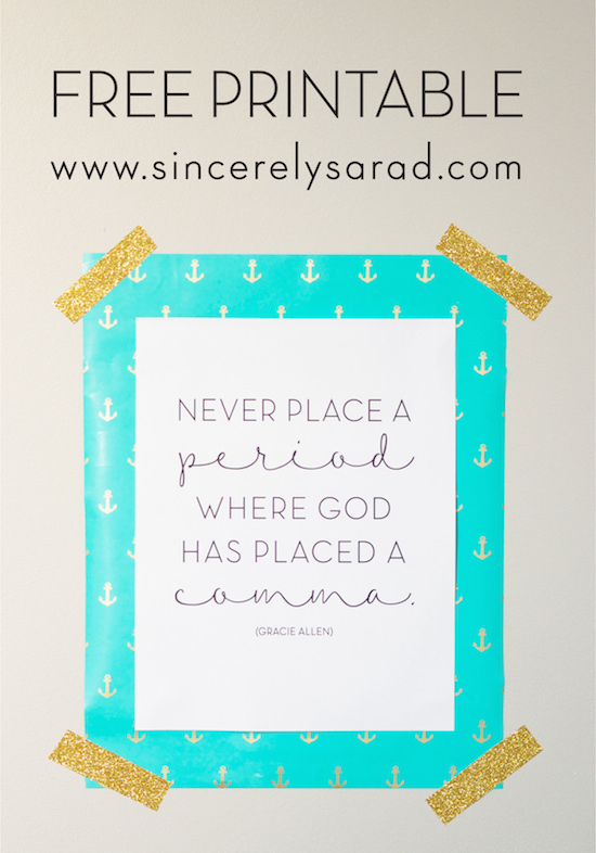 FREE Encouraging Printable