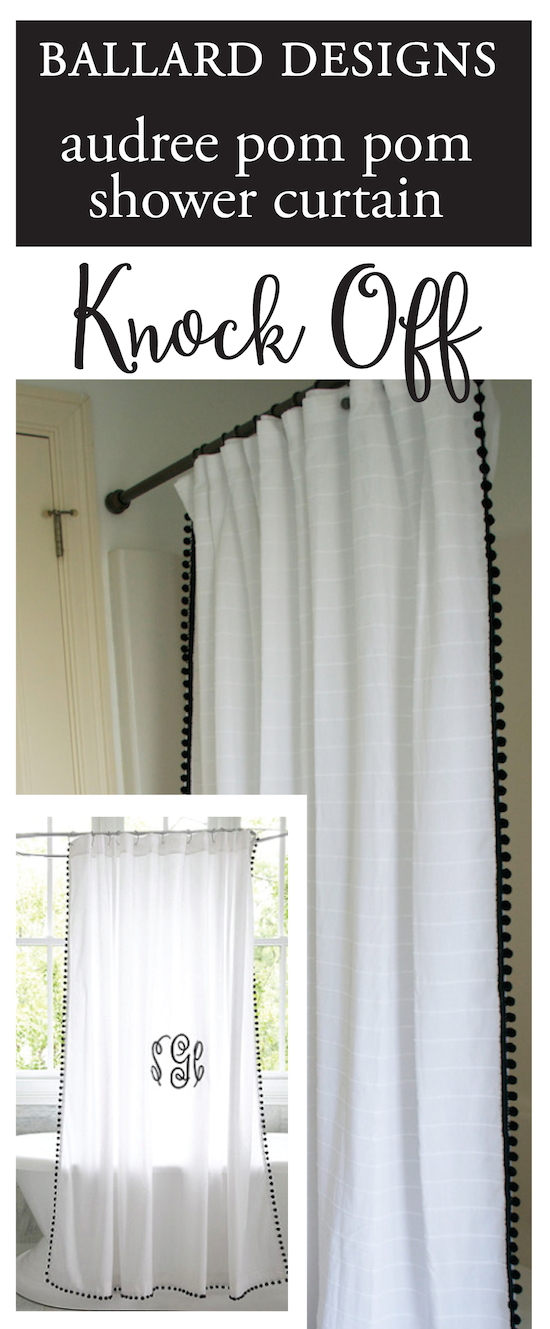 Ballard Designs Shower Curtain Knock Off Hardware Update
