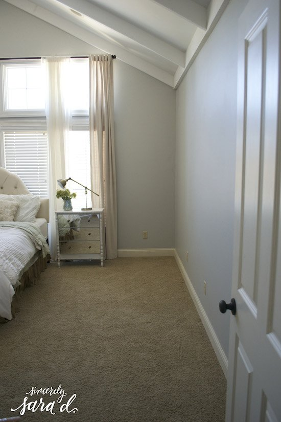 Blank Bedroom Wall Makeover