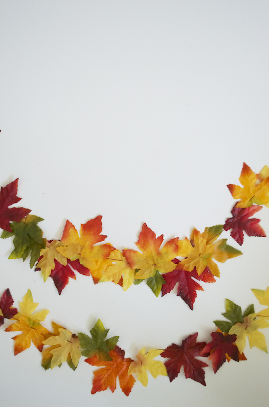 Easy DIY fall garland