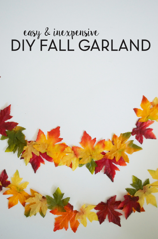 Diy Fall Leaf Garland Sincerely Sara D