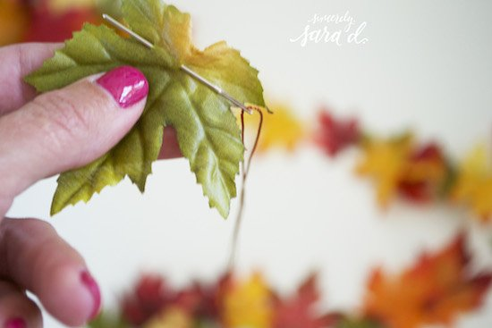 Fall garland tutorial