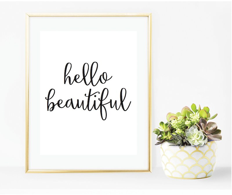 Hello Beautiful – Free Printable