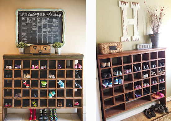 Reader Spotlight: Kristi's DIY Shoe Cubby