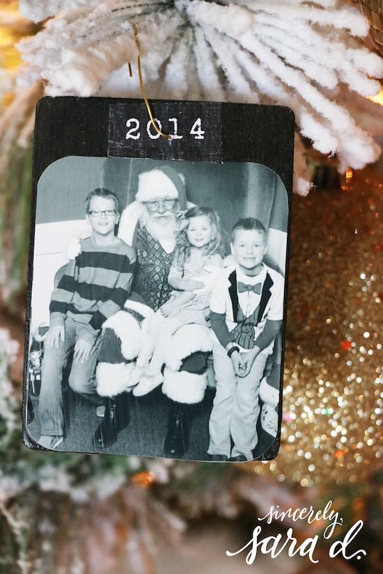 DIY Christmas Photo Ornaments
