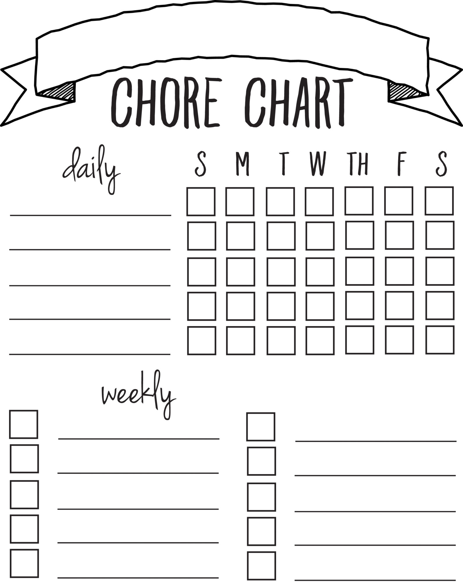 Impeccable image inside chores chart printable