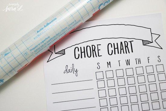 Making a chore chart