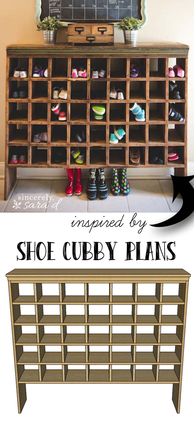 Build your own shoe cubby with remodelaholic sincerely sara d - How to build shoe storage cabinet ...