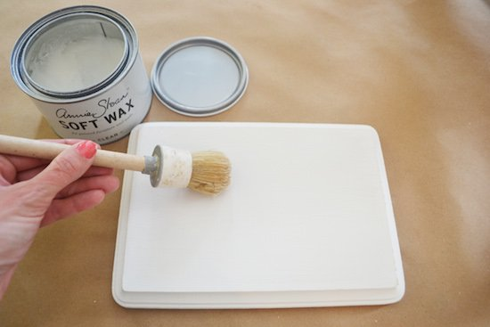 Adding Clear Wax to Chalk Paint