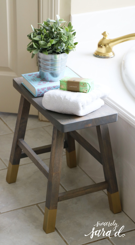 DIY Bathroom Stool | Sincerely, Sara D.
