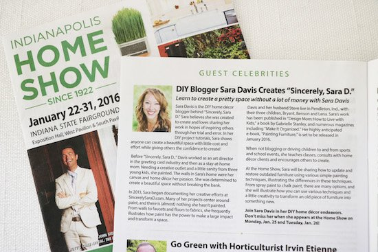 Indianapolis Home Show Sincerely Sara D
