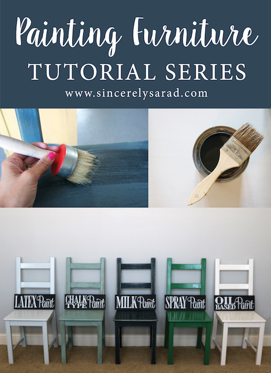Painting Furniture Tutorial Series by Sincerely Sara D
