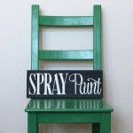 Painting Furniture with Spray Paint