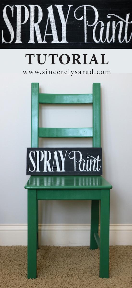 Spray Paint Tutorial - Painting Furniture Series