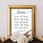 Love Never Fails – Free Printable!