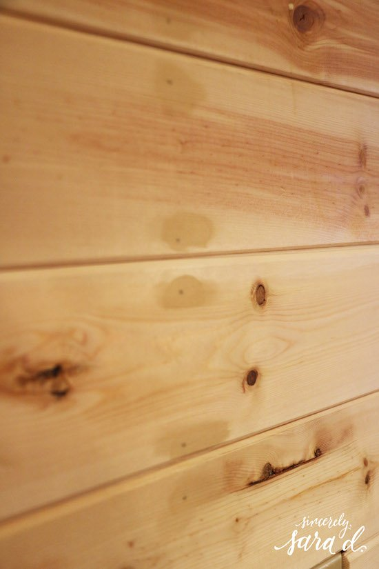 Filling nail holes in shiplap