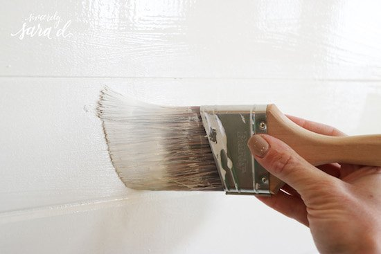 Painting Shiplap
