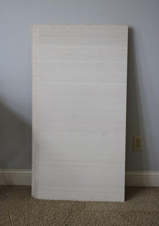 8 foot sheet cut down to 2 foot
