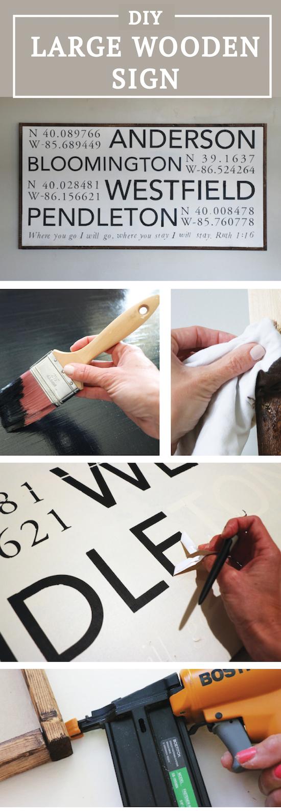 DIY Large Wooden Sign
