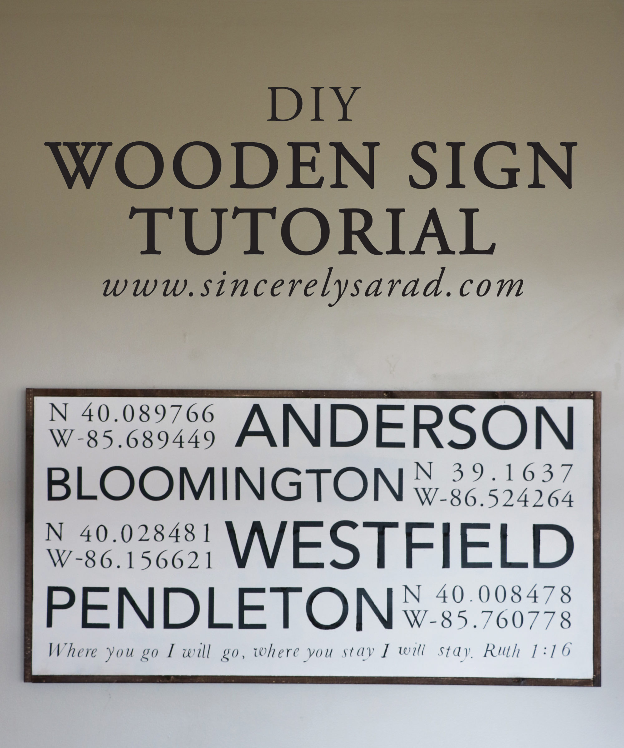 DIY Wooden Sign Tutorial