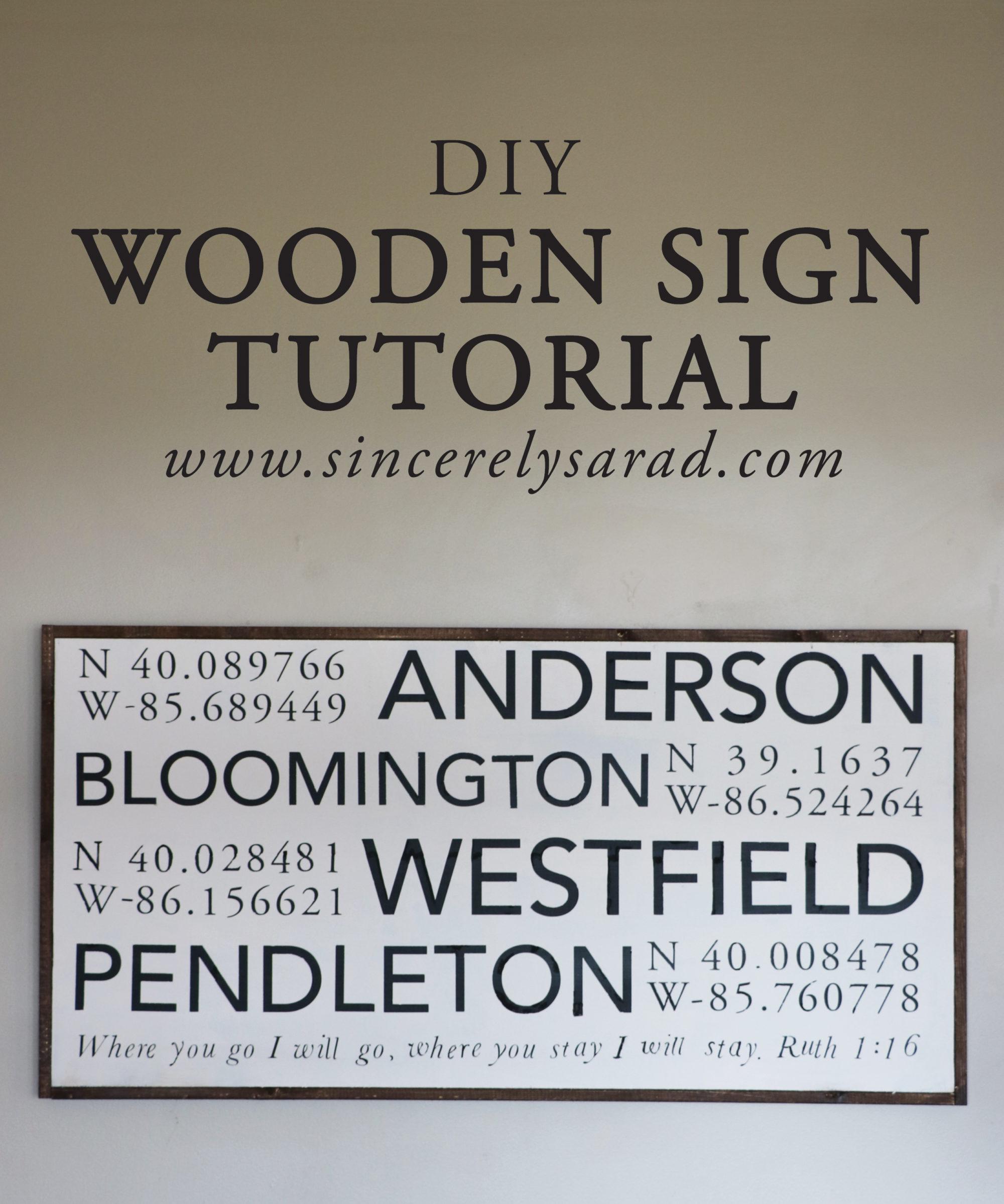 DIY Wooden Sign Tutorial