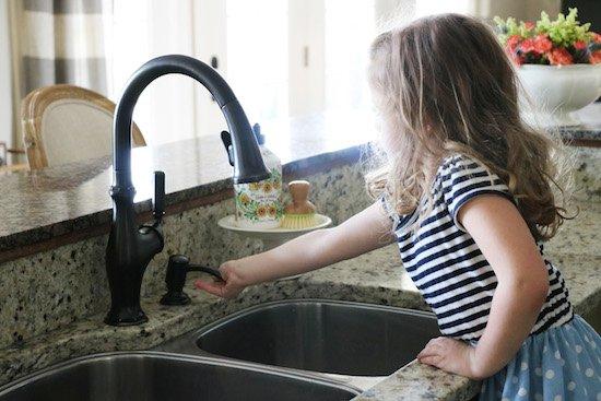 Kohler Faucet and soap dispenser