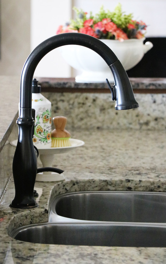 New Faucet and a DIY Kitchen Sink Organizer - Sincerely, Sara D.