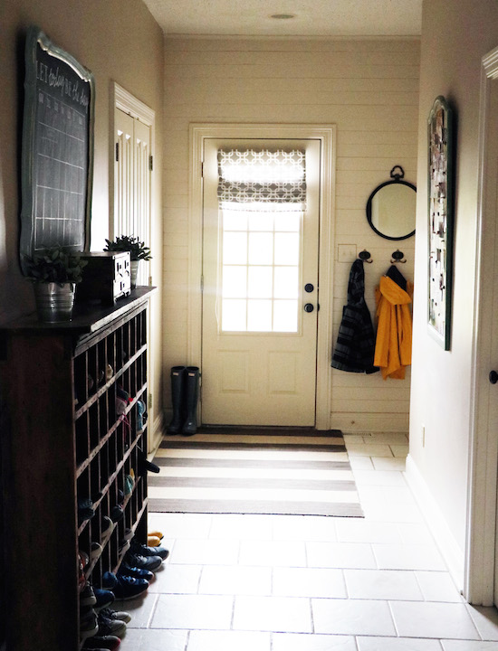 Mudroom with Shiplap